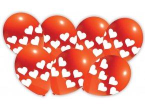 červené balonky se srdíčky