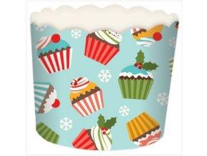 kartonový košíček zima