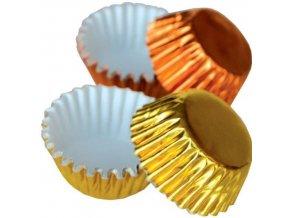 košíčky na pralinky zlato + oranž