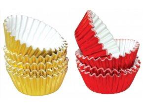 košíčky na pralinky zlato + červená