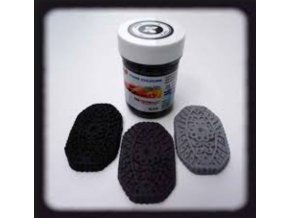 černá barva food colours