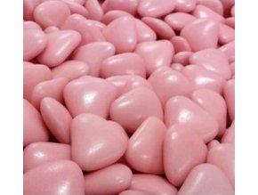 čokol. srdíčka růžová