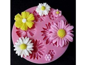 květinky kulatá silik.