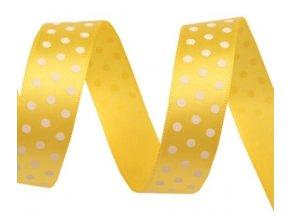 stuha žlutá s puntíky