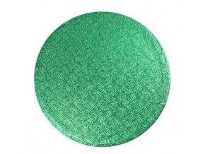 podložka kruh tm. zelená
