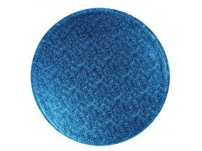 podložka kruh tm. modrá