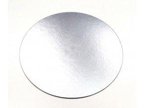 stříbrná kulatá tenká