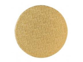 podložka zlatá pevná kul.