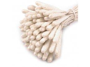 pestíky s glitry bílá