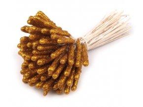 pestíky s glitry zlatá