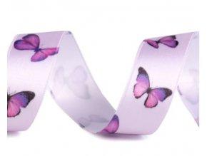stuha s motýli fial.