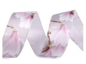 stuha s magnolii růž