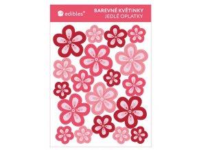 barevné květinky papír