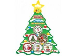 košíčky na pralinky vánoční