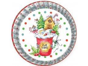 košíčky na muffiny barevné vánoční