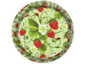 košíček zelený s jahodami