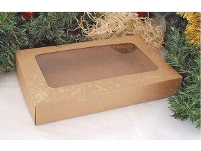 krabice vánoční kraft zlato