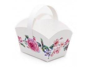 svatební košíček květy