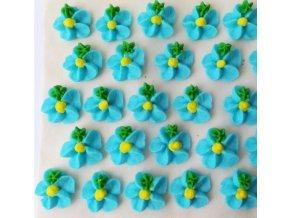 cukr. květinky tyrkys. se žl. středem