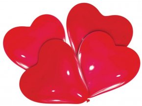 balónky červené srdce
