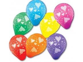 balonky barevné srdce