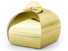 krabička na sladkosti zlatá