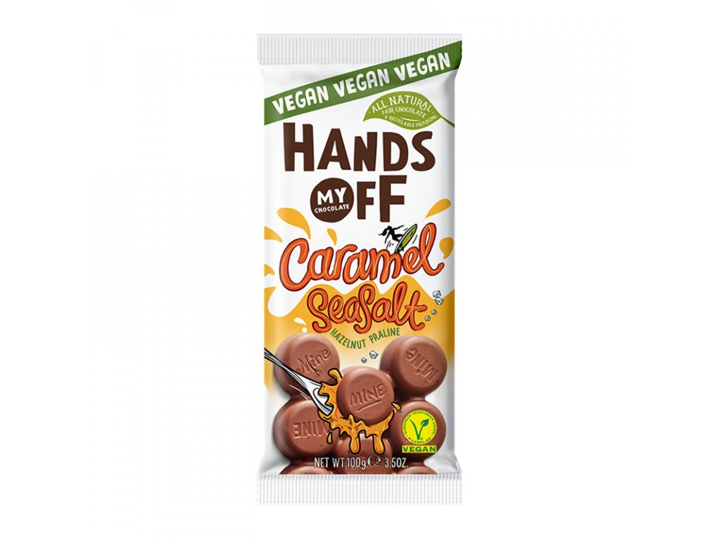 Hands off my chocolate Vegan Milk Chocolate Caramel & Seasalt 100g