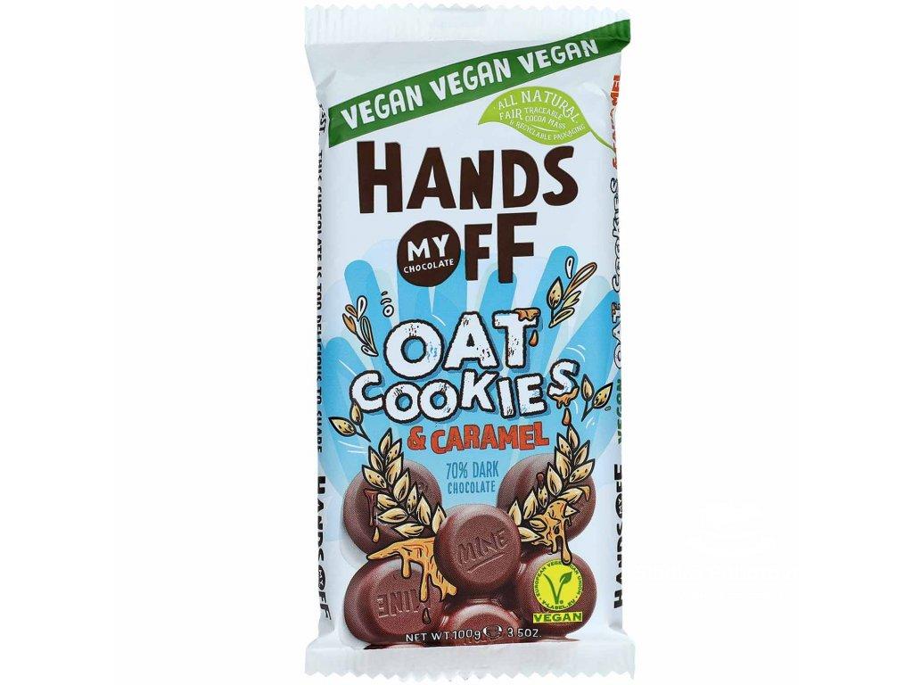Hands off my chocolate Oat Cookies 70% Dark Chocolate Caramel 100g