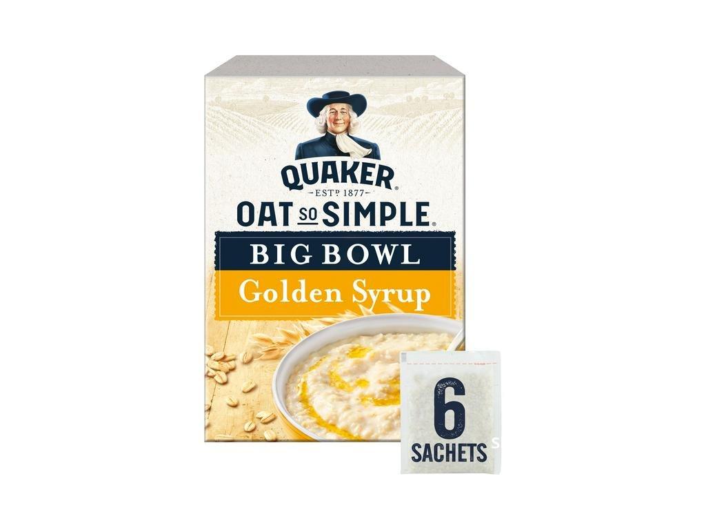 Quaker Oat So Simple Big Bowl Golden Syrup 8x298