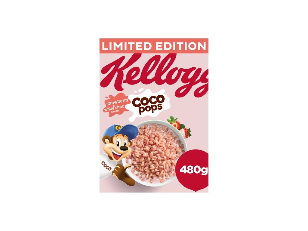 Kelloggs Coco Pop Strawberry & White Chocolate 480g