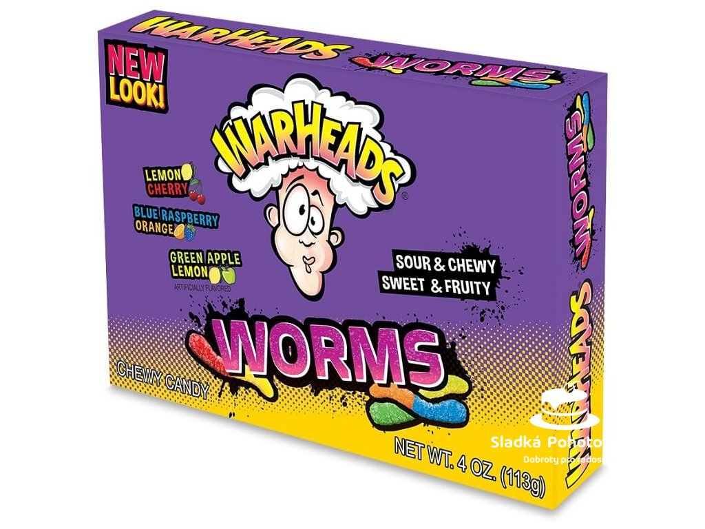 Warheads Sour Worms Theatre Box 113g