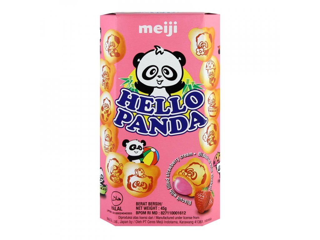 Meiji Hello Panda Strawberry 45g