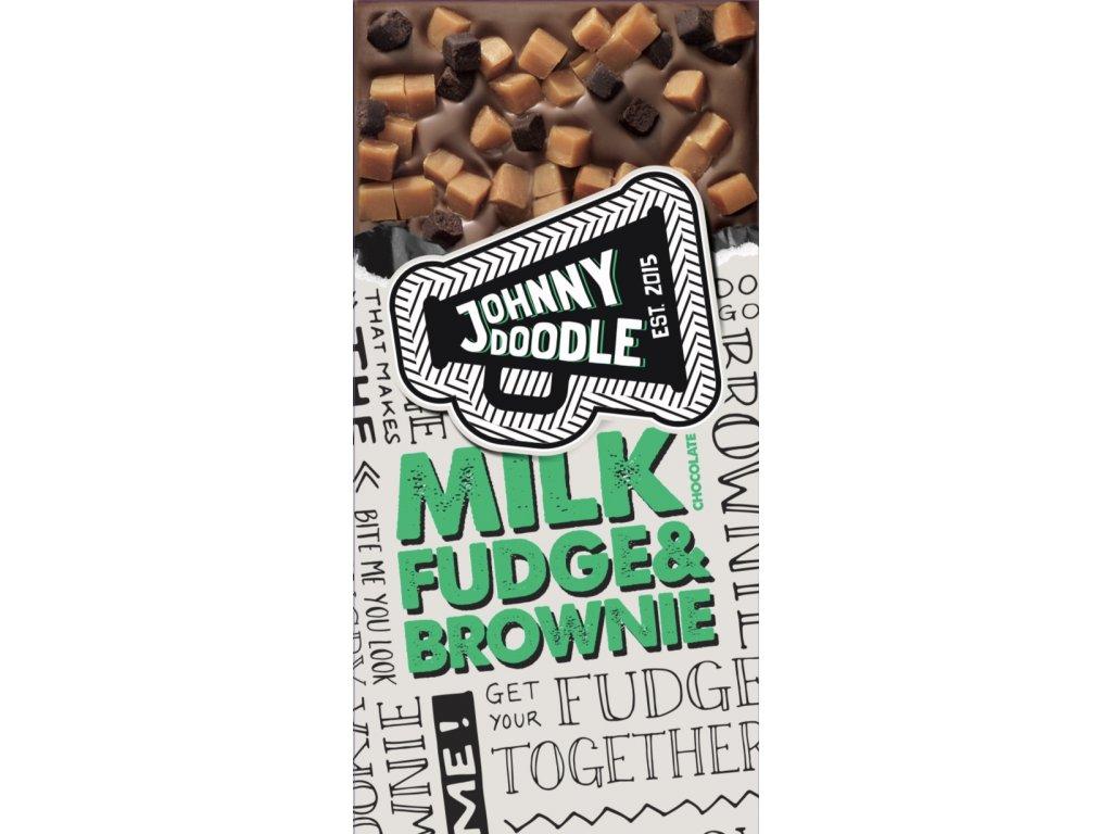 Johnny Doodle Milk Fudge & Brownie 150g