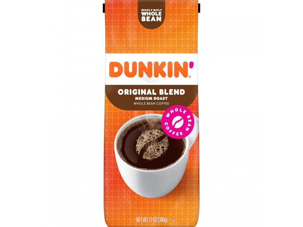 Dunkin' Donuts Original Blend Whole Bean ( ZRNKOVÁ KÁVA) Coffee 340g