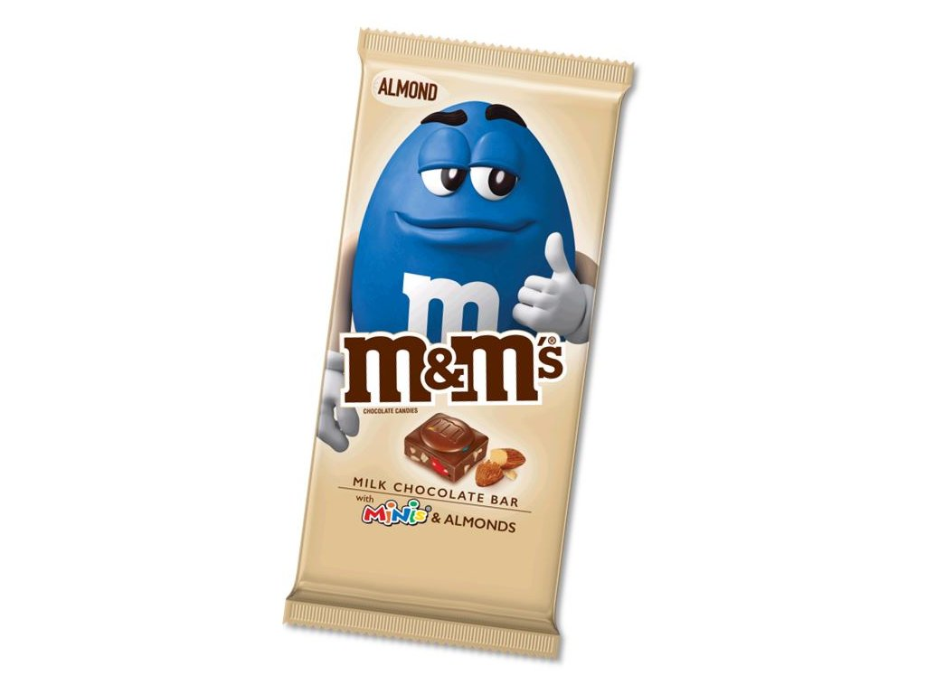 M&M's Milk Chocolate Bar With Minis and Almond 113.4g