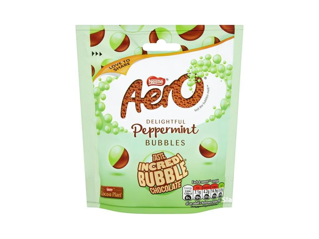 Nestle Aero Bubbles P/mint Pouch Bag 92g