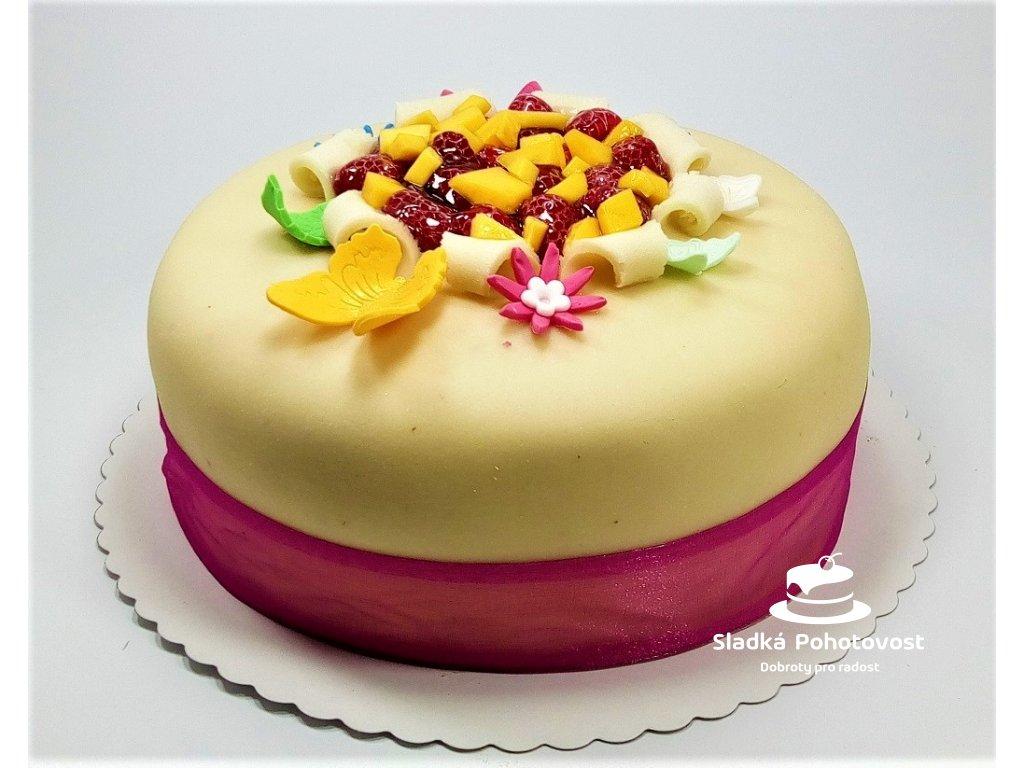 bezlaktozovy marcipanovy dort