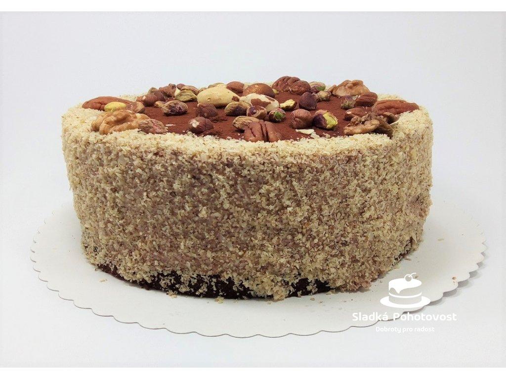 bezlepkovy orechovy dort