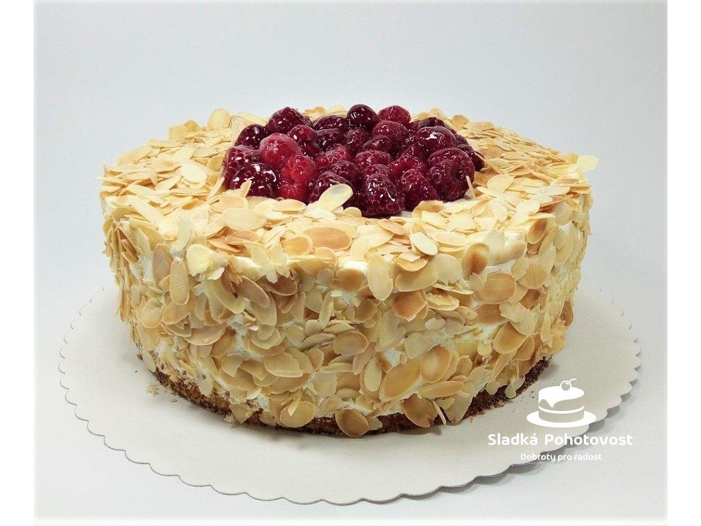 bezlepkovy malinovo vanilkovy dort