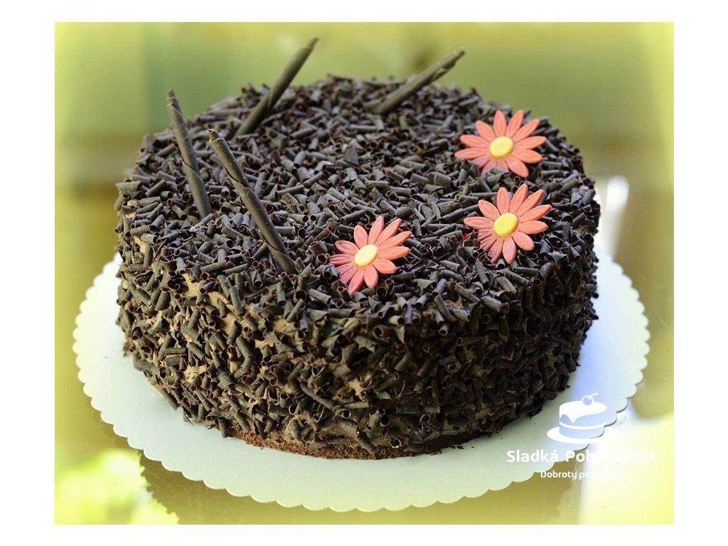 bezlepkovy cokoladovy dort s hoblinami z horke belgicke cokolady
