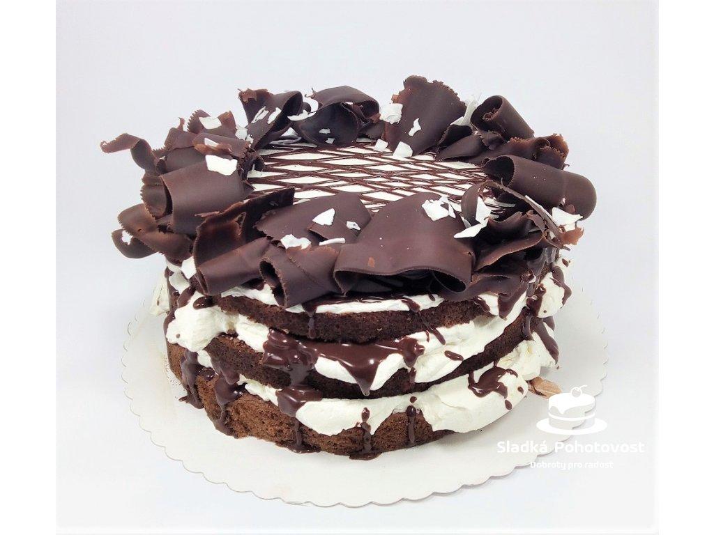 bezlepkovy cokoladovy dort s kokosovym kremem
