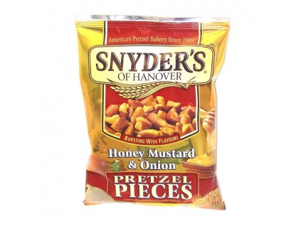 Snyders Pretzels - Honey Mustard & Onion 125g  Preclíky