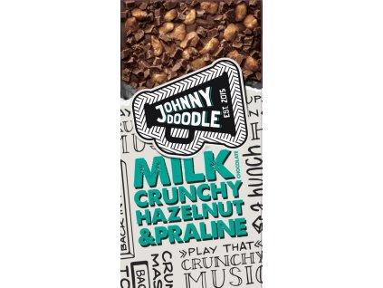 Johnny Doodle Milk Hazelnut Crunch a Praline 150g