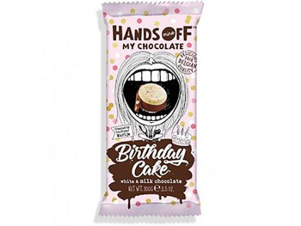 Hands Off My Chocolate Birthday Cake White & Milk Chocolate 100g