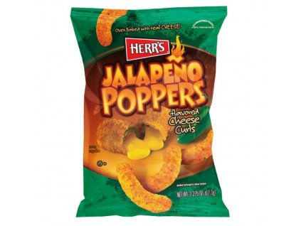 Herr's Jalapeno Poppers Cheese Curls 199g
