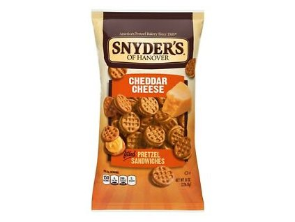 Snyder of Hanover Pretzel Sandwiches Cheddar Cheese 60g
