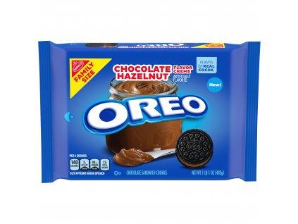 OREO Chocolate Hazelnut Flavored Creme Chocolate Sandwich Cookies 482g