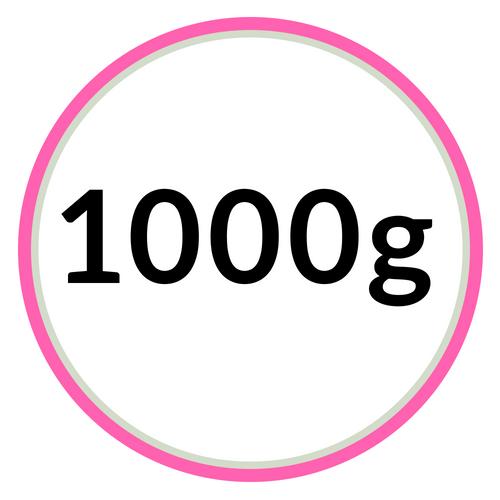 1000 gramové hmoty