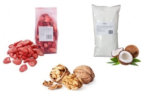 Suché plody, ovoce, semena