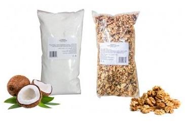 Vlašské ořechy a kokos pro sladké pečení